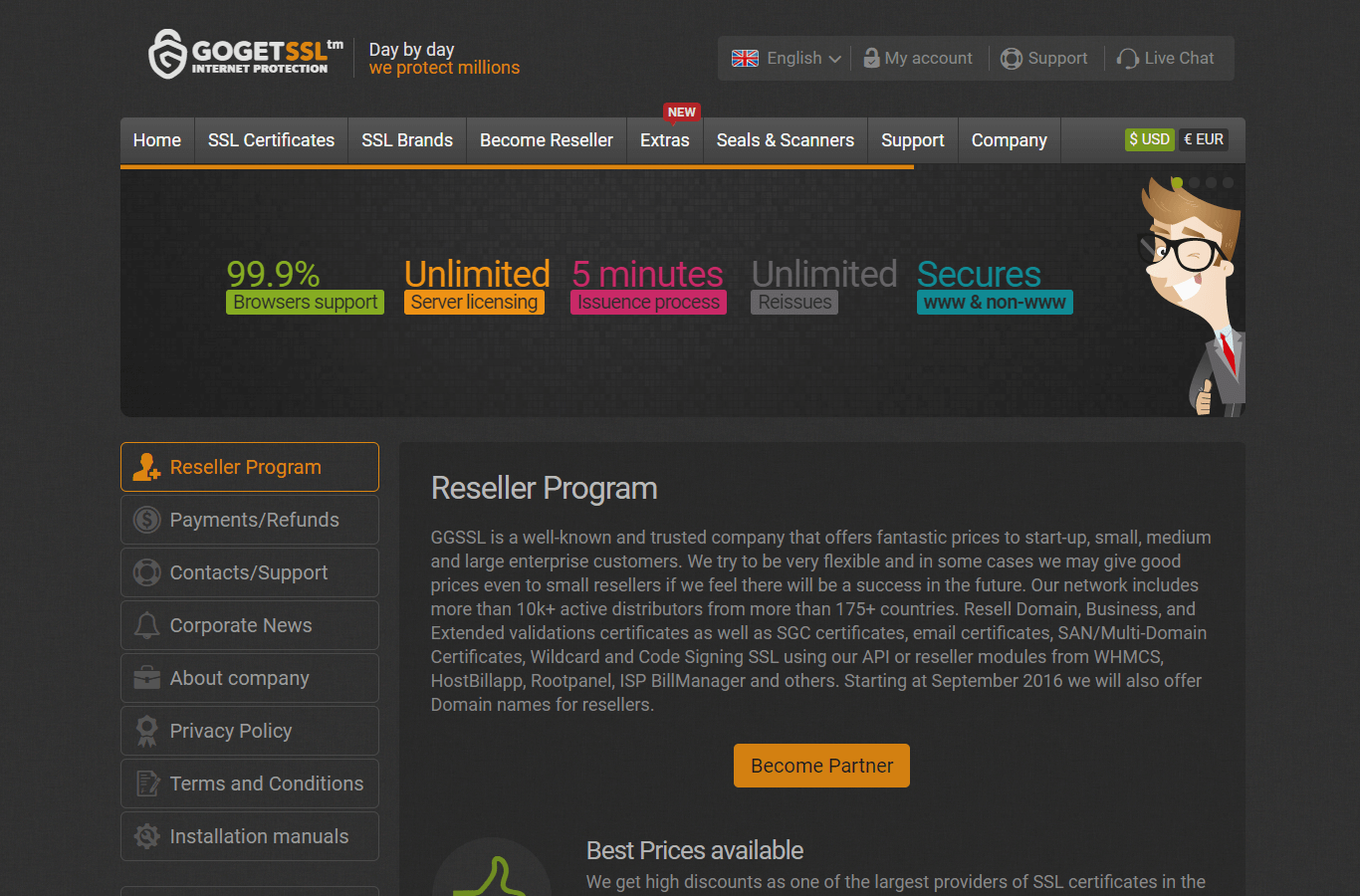 GoGetSSL Reseller Program