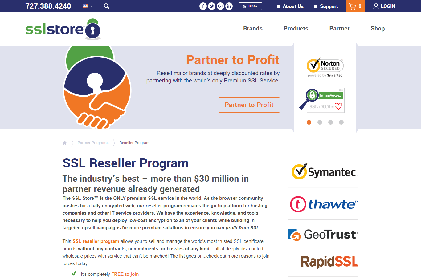 The SSL Store Partnership Program